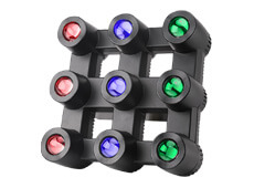 9pcs 40W RGBW 4in1 LED Matrix Blinder Light